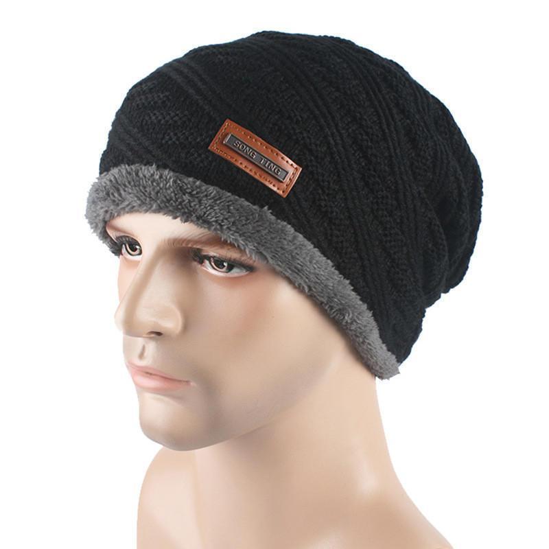 Стильный мужская зимняя шапка