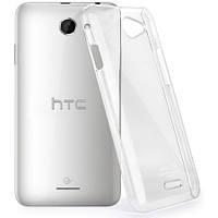 Прозрачный силиконовый чехол для HTC Desire 516 Dual Sim ультратонкий