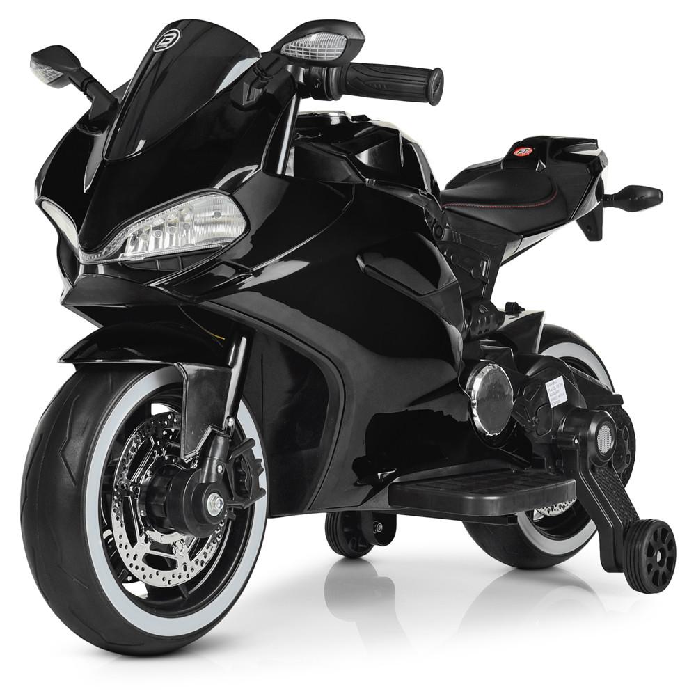 Дитячий електромотоцикл M 4104ELS-2 Автопокраска Чорний Гарантія якості Швидка доставка