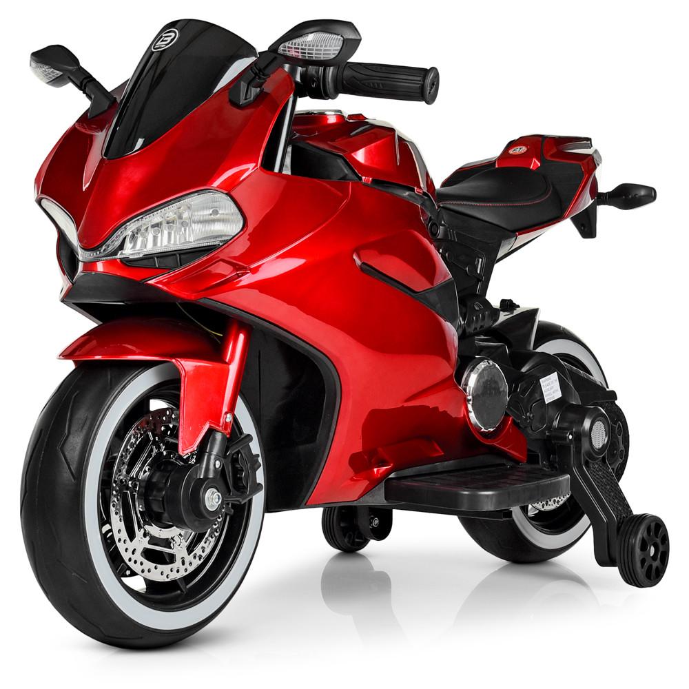 Детский электромотоцикл M 4104ELS-3 Автопокраска Красный Гарантия качества Быстрая доставка