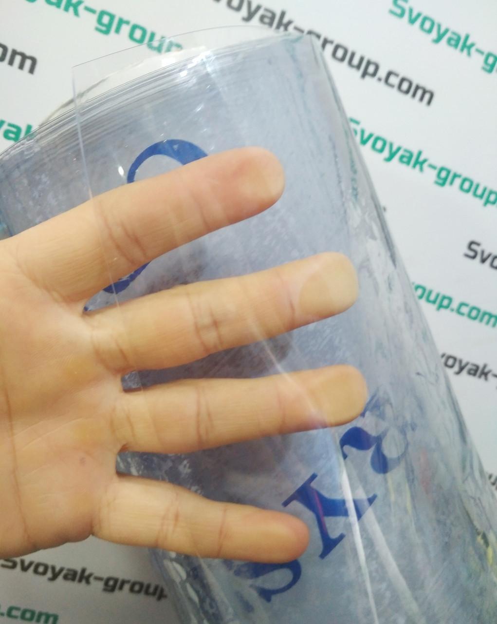 Пленка силиконовая гибкое стекло 600 мкм (0,6 мм) - ширина 1,4м.Прозрачная.