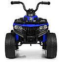 Дитячий електромобіль Квадроцикл M 4137 EL-4 на гумових колесах, Шкіряне сидіння, синій, фото 2