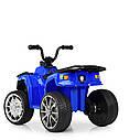 Дитячий електромобіль Квадроцикл M 4137 EL-4 на гумових колесах, Шкіряне сидіння, синій, фото 5