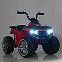 Дитячий електромобіль Квадроцикл M 4137 EL-4 на гумових колесах, Шкіряне сидіння, синій, фото 6
