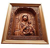 """Икона деревянная Божией Матери """"Неувядаемый цвет"""""""