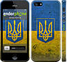 "Чехол на iPhone 5s Флаг и герб Украины 2 ""378c-21"""