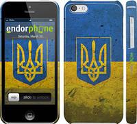 "Чехол на iPhone 5c Флаг и герб Украины 2 ""378c-23"""