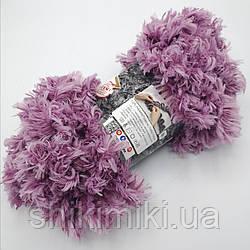 Фантазийная меховая пряжа Puffy Fur, цвет сиреневый