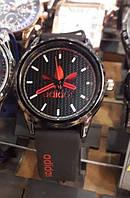Часы спортивные Adidas мужские черно-красные на батарейке 116467 копия
