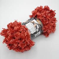 Фантазийная меховая пряжа Puffy Fur, цвет красный