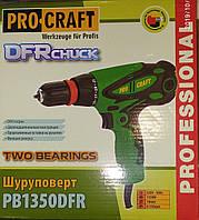 Шуруповерт сетевой ProCraft 1350 DFR Сменный патрон 2-скорости