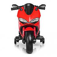 Детский электромотоцикл M 4104EL-3 Красный Гарантия качества Быстрая доставка, фото 2