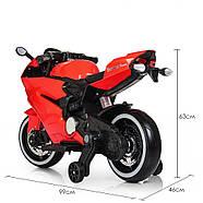 Детский электромотоцикл M 4104EL-3 Красный Гарантия качества Быстрая доставка, фото 5