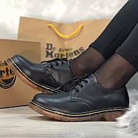 Ботинки женские низкие Dr. Martens Boots (черные) Top replic