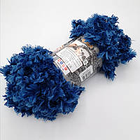 Фантазийная меховая пряжа Puffy Fur, цвет синий
