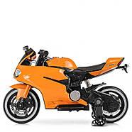 Дитячий електромотоцикл M 4104EL-7 Помаранчевий Гарантія якості Швидка доставка, фото 4