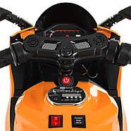 Дитячий електромотоцикл M 4104EL-7 Помаранчевий Гарантія якості Швидка доставка, фото 3