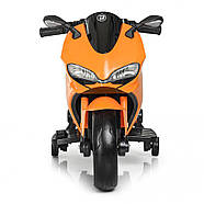 Дитячий електромотоцикл M 4104EL-7 Помаранчевий Гарантія якості Швидка доставка, фото 2