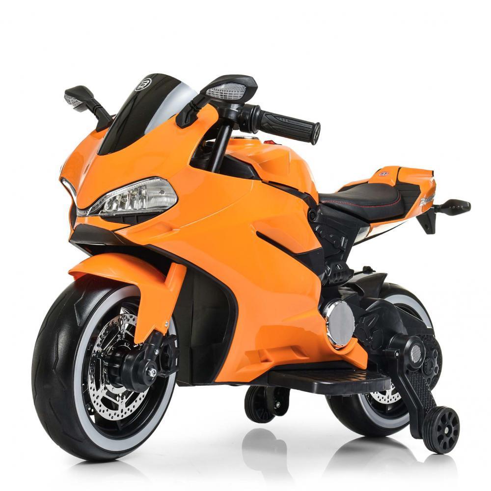 Дитячий електромотоцикл M 4104EL-7 Помаранчевий Гарантія якості Швидка доставка