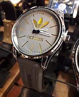 Часы кварцевые Adidas мужские серые с золотом на батарейке 116469 копия
