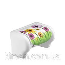 Держатель для туалетной бумаги Elif Plastik (одуванчики)