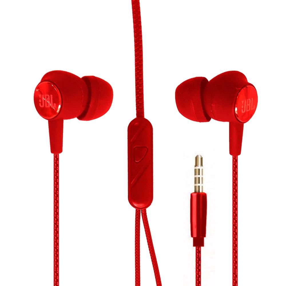 Навушники вакуум JBLE1 (Red)