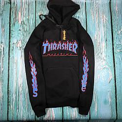 Толстовка чёрная LOYS Thrasher fire L