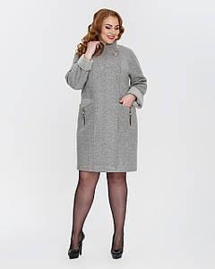 Элегантное пальто с 50 по 60 размер