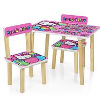 Столик детский с двумя стульчиками 501-49 розового цвета,Hello Kitty.
