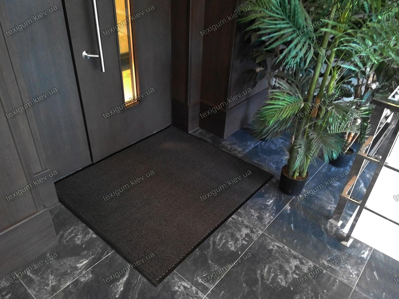 Грязезащитный ковер Стандарт темно-серый 90х120см