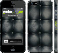 "Чехол на iPhone 5 Кожаная обивка ""1104c-18"""