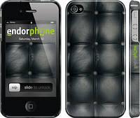 "Чехол на iPhone 4s Кожаная обивка ""1104c-12"""