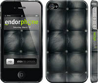 "Чехол на iPhone 4 Кожаная обивка ""1104c-15"""