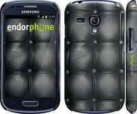 "Чехол на Samsung Galaxy S3 mini Кожаная обивка ""1104c-31"""