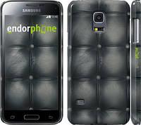 "Чехол на Samsung Galaxy S5 mini G800H Кожаная обивка ""1104c-44"""