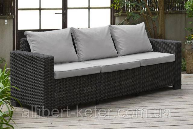 Набір садових меблів California 3-Seater Sofa з штучного ротанга ( Allibert by Keter )