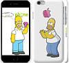 """Чехол на iPhone 6 Симпсоны, Гомер с яблоком """"937c-45"""""""
