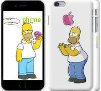"Чехол на iPhone 6 Plus Симпсоны, Гомер с яблоком ""937c-48"""