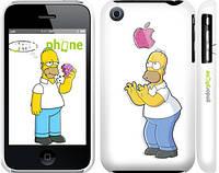 """Чехол на iPhone 3Gs Симпсоны, Гомер с яблоком """"937c-34"""""""