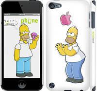 "Чехол на iPod Touch 5 Симпсоны, Гомер с яблоком ""937c-35"""