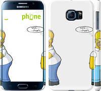 """Чехол на Samsung Galaxy S6 G920 Симпсоны, Гомер с яблоком """"937c-80"""""""