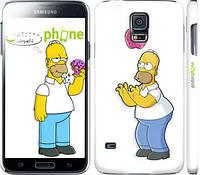 """Чехол на Samsung Galaxy S5 g900h Симпсоны, Гомер с яблоком """"937c-24"""""""