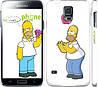 """Чехол на Samsung Galaxy S5 Duos SM G900FD Симпсоны, Гомер с яблоком """"937c-62"""""""