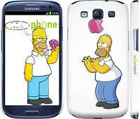 """Чехол на Samsung Galaxy S3 Duos I9300i Симпсоны, Гомер с яблоком """"937c-50"""""""