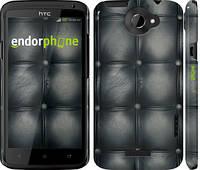 "Чехол на HTC One X+ Кожаная обивка ""1104c-69"""