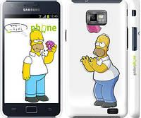 """Чехол на Samsung Galaxy S2 i9100 Симпсоны, Гомер с яблоком """"937c-14"""""""