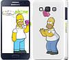 """Чехол на Samsung Galaxy A3 A300H Симпсоны, Гомер с яблоком """"937c-72"""""""