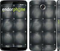 """Чехол на Motorola Nexus 6 Кожаная обивка """"1104c-67"""""""
