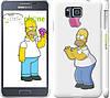 """Чехол на Samsung Galaxy Alpha G850F Симпсоны, Гомер с яблоком """"937c-65"""""""