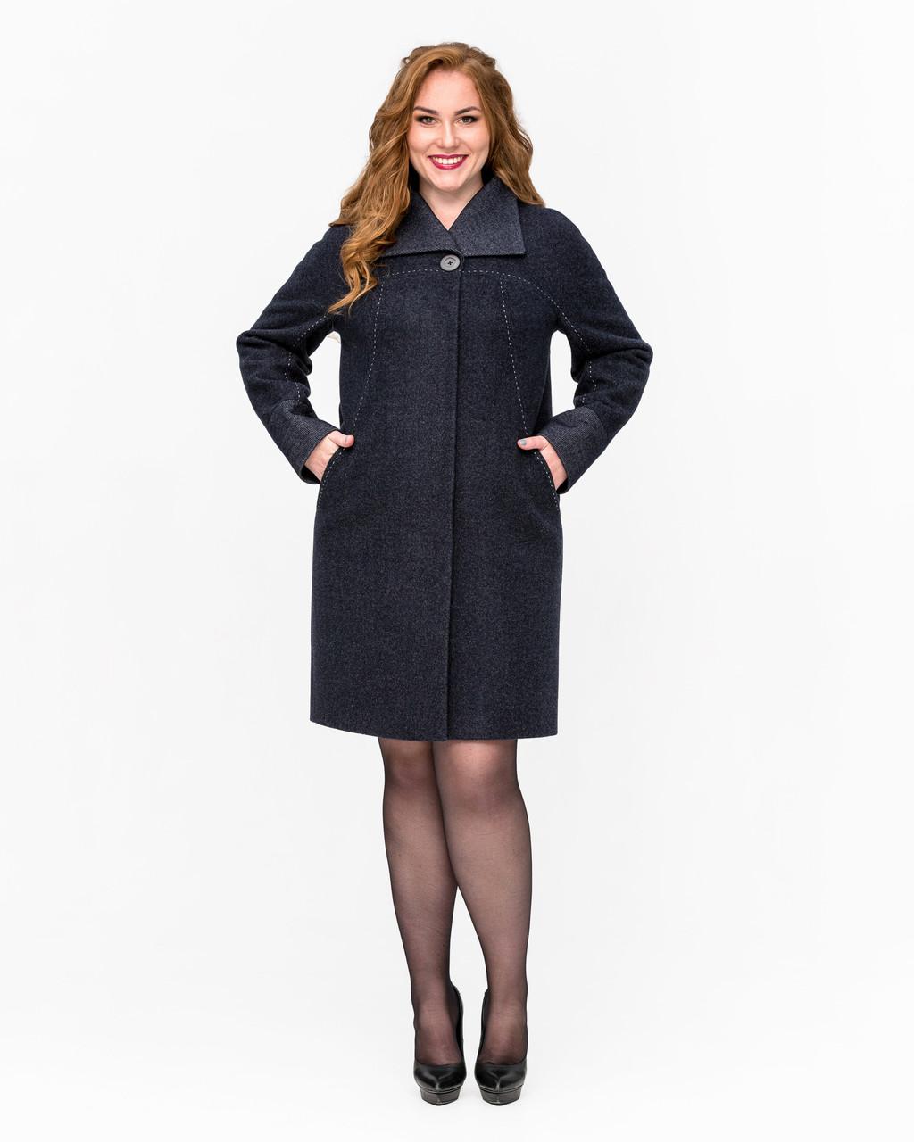 Элегантное пальто с 50 по 58 размер